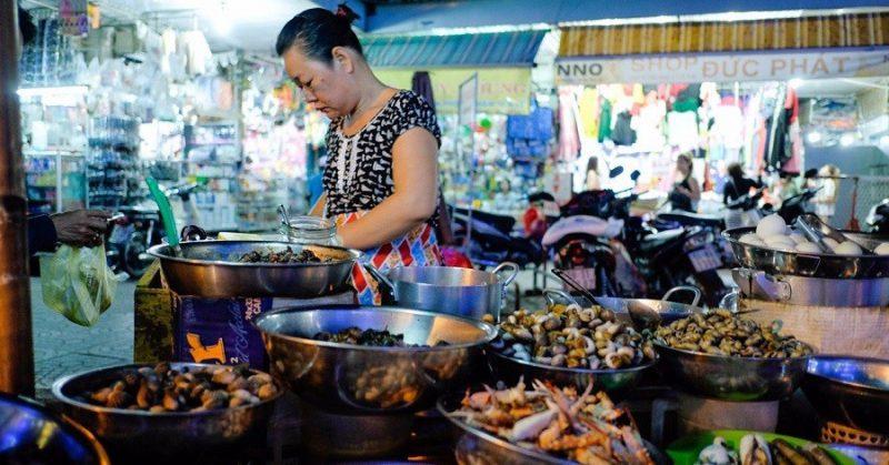 chợ ăn uống Sài Gòn