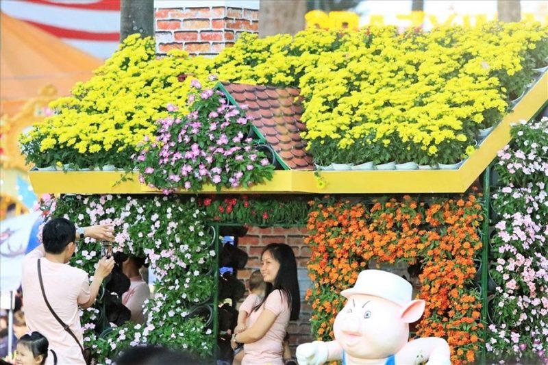 chợ hoa xuân Sài Gòn