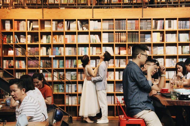 quán cà phê sách ở sài gòn