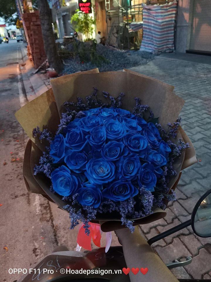 Hoa hồng xanh độc đáo