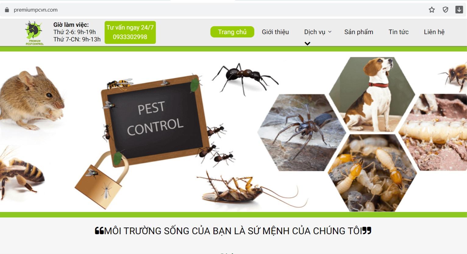 xử lý côn trùng