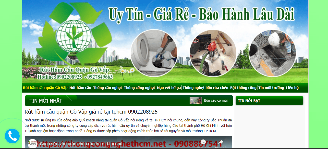 dịch vụ hút hầm cầu Sài Gòn