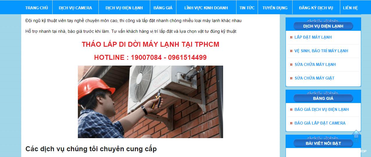 sửa chữa điện lạnh tp.hcm