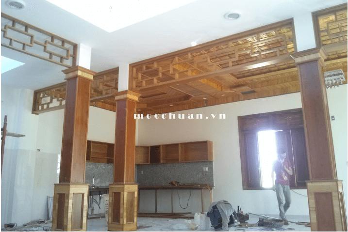 thi công trần gỗ sài gòn