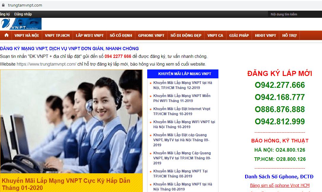 dịch vụ lắp mạng VNPT ở Sài Gòn