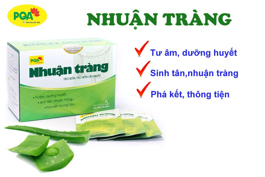 PQA Nhuận Tràng hỗ trợ điều trị táo bón lâu ngày