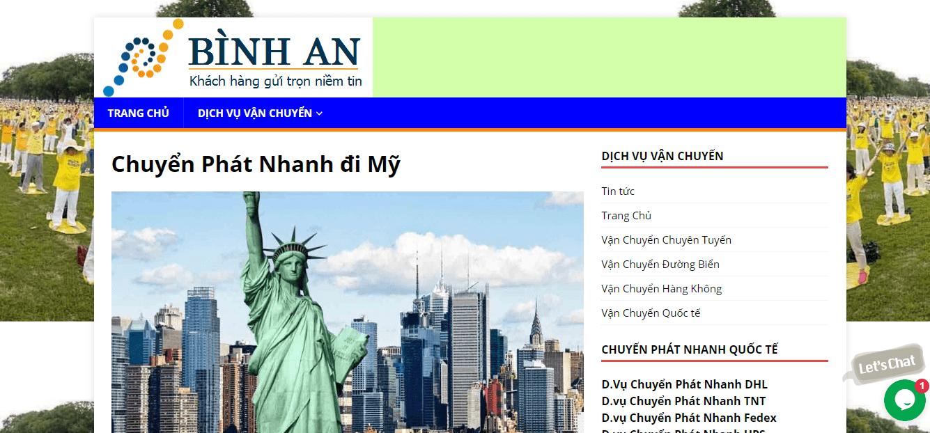 gửi hàng đi Mỹ tại Sài Gòn