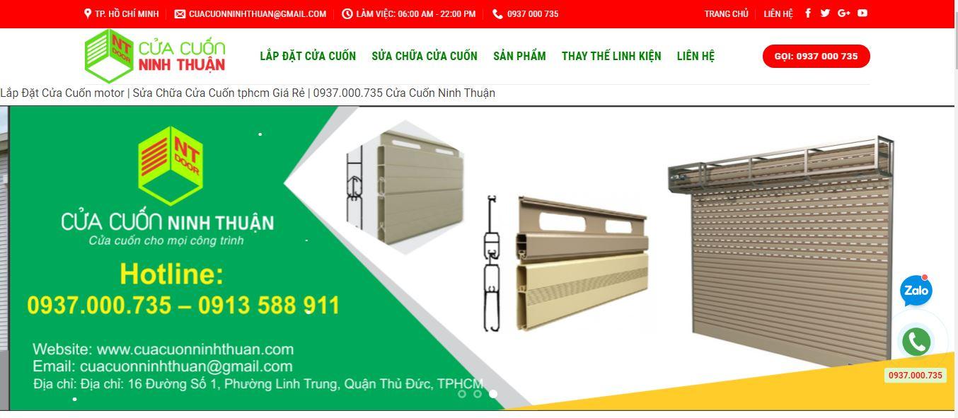 Cửa cuốn Ninh Thuận