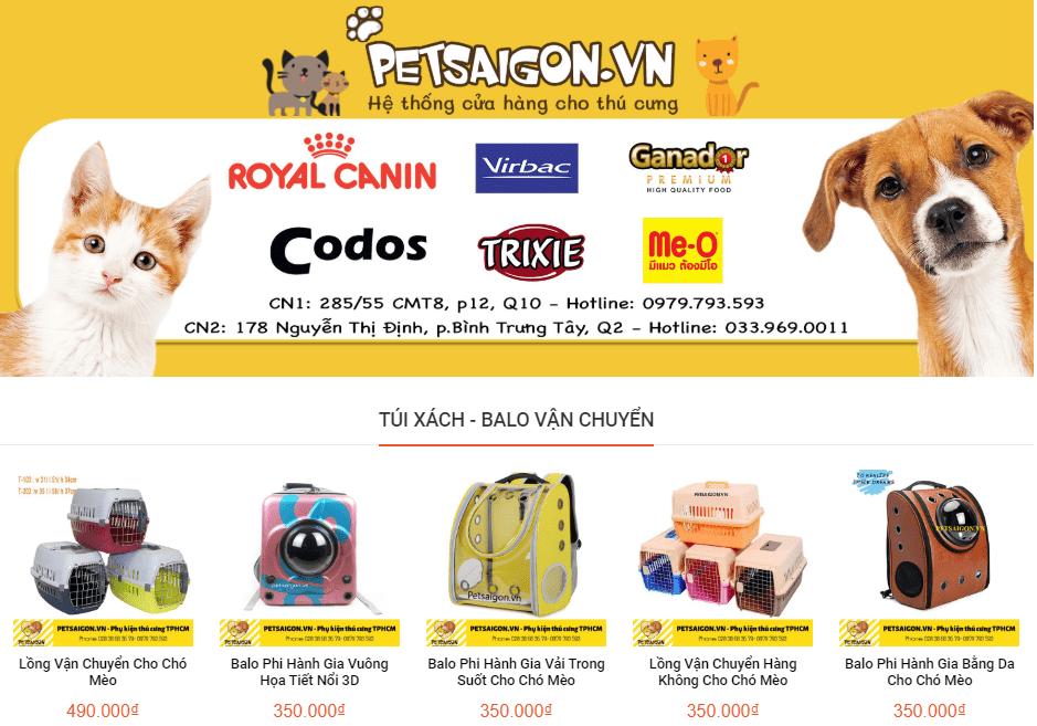 cửa hàng thú cưng TPHCM