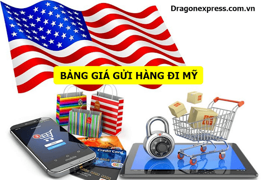 Giá dịch vụ gửi hàng đi Mỹ tại Dragon Express
